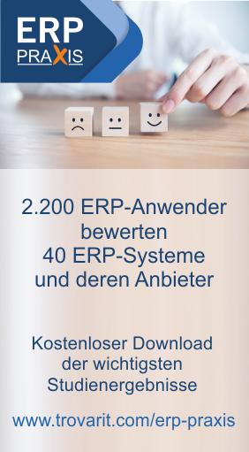 ERP in der Praxis: Anwenderzufriedenheit, Nutzen & Perspektiven 2018/2019